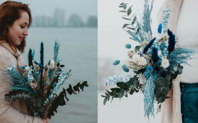 Mooi droogbloemen boeket: de Frozen collectie van TIFM