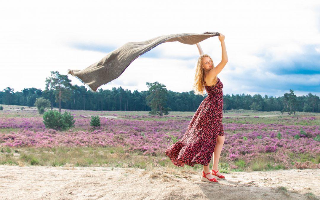 Story: Paarse heide shoot met Annemieke